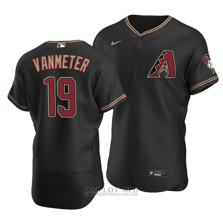 Maillot Baseball Homme Arizona Diamondbacks Josh Vanmeter Authentique Alterner 2020 Noir