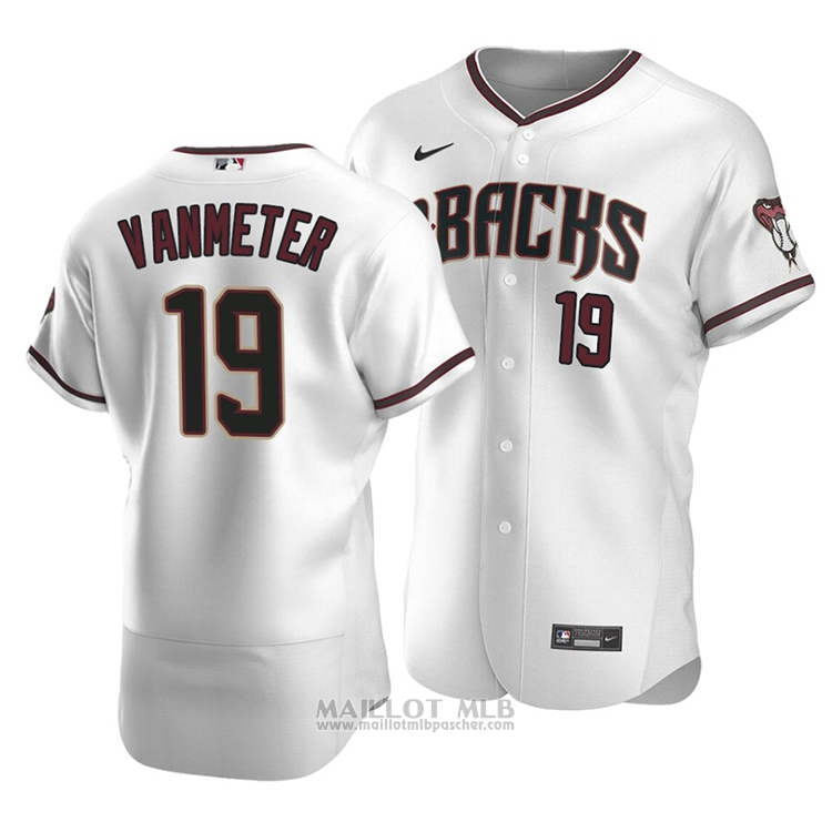 Maillot Baseball Homme Arizona Diamondbacks Josh Vanmeter Authentique Primera 2020 Blanc
