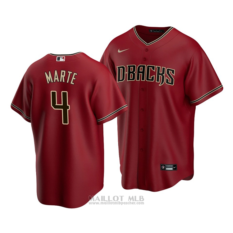 Maillot Baseball Homme Arizona Diamondbacks Ketel Marte Replique Alterner 2020 Rouge