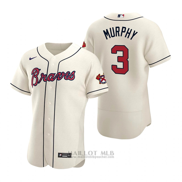 Maillot Baseball Homme Atlanta Braves Dale Murphy Authentique 2020 Alterner Creme