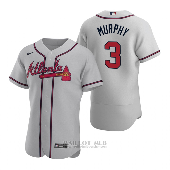 Maillot Baseball Homme Atlanta Braves Dale Murphy Authentique 2020 Road Gris
