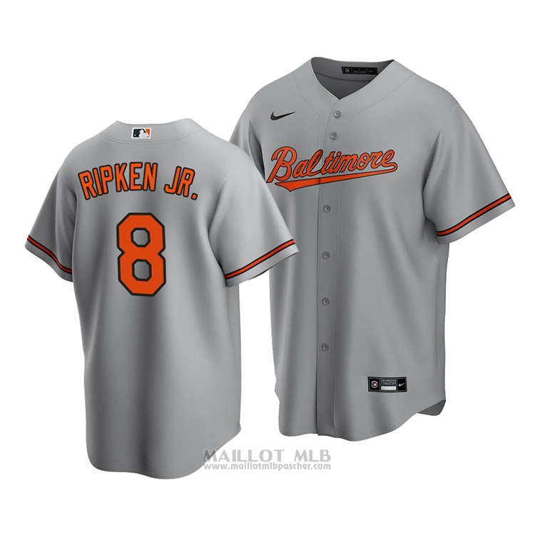 Maillot Baseball Homme Baltimore Orioles Cal Ripken Jr. Replique Road 2020 Gris