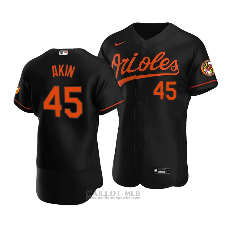 Maillot Baseball Homme Baltimore Orioles Keegan Akin Authentique Alterner 2020 Noir
