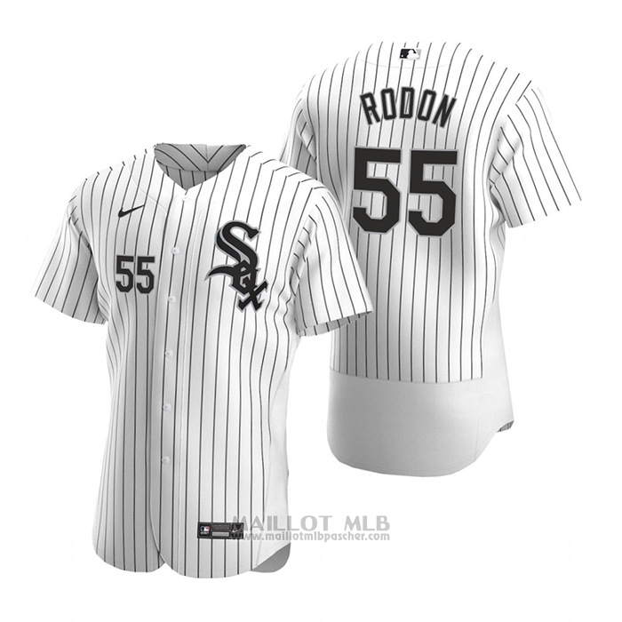 Maillot Baseball Homme Chicago White Sox Carlos Rodon Authentique 2020 Primera Blanc