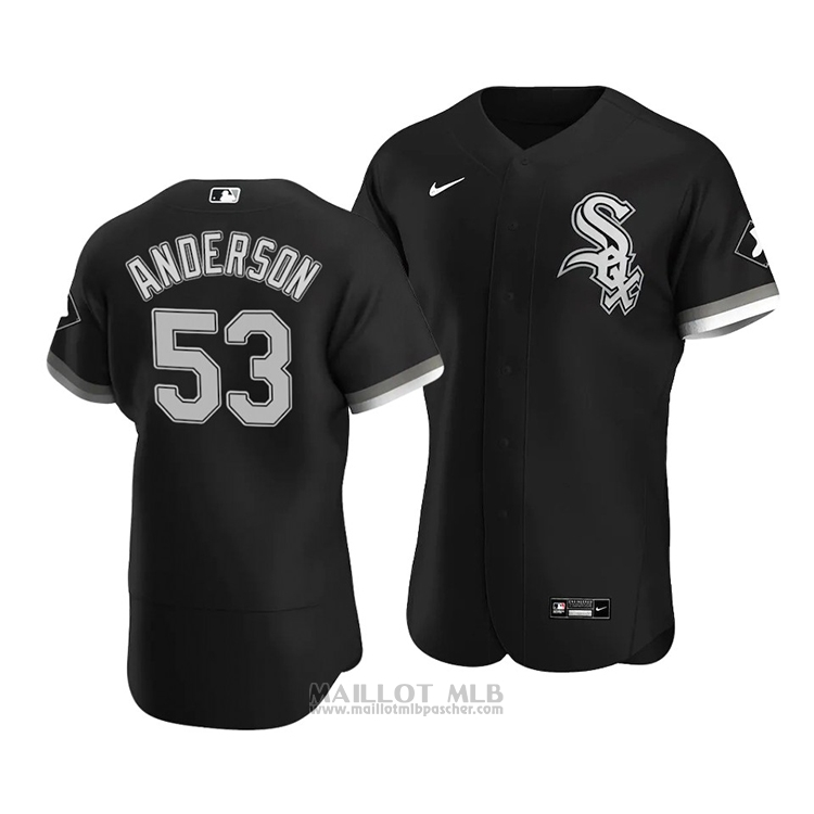Maillot Baseball Homme Chicago White Sox Drew Anderson Authentique Alterner 2020 Noir