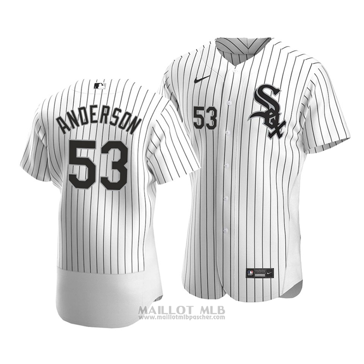 Maillot Baseball Homme Chicago White Sox Drew Anderson Authentique Primera 2020 Blanc