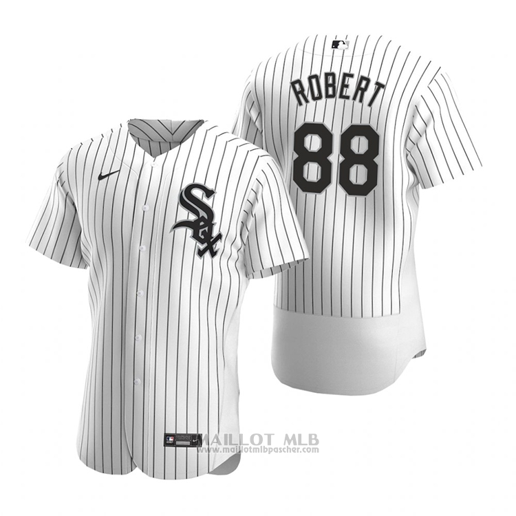 Maillot Baseball Homme Chicago White Sox Luis Robert Authentique Primera 2020 Blanc