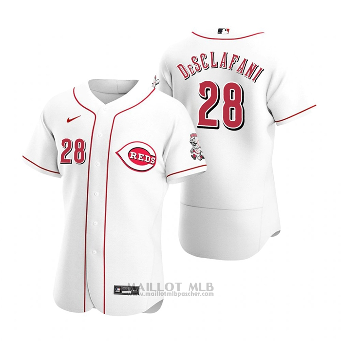 Maillot Baseball Homme Cincinnati Reds Anthony Desclafani Authentique 2020 Primera Blanc