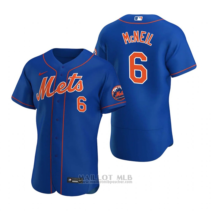 Maillot Baseball Homme New York Mets Jeff Mcneil Authentique 2020 Alterner Bleu