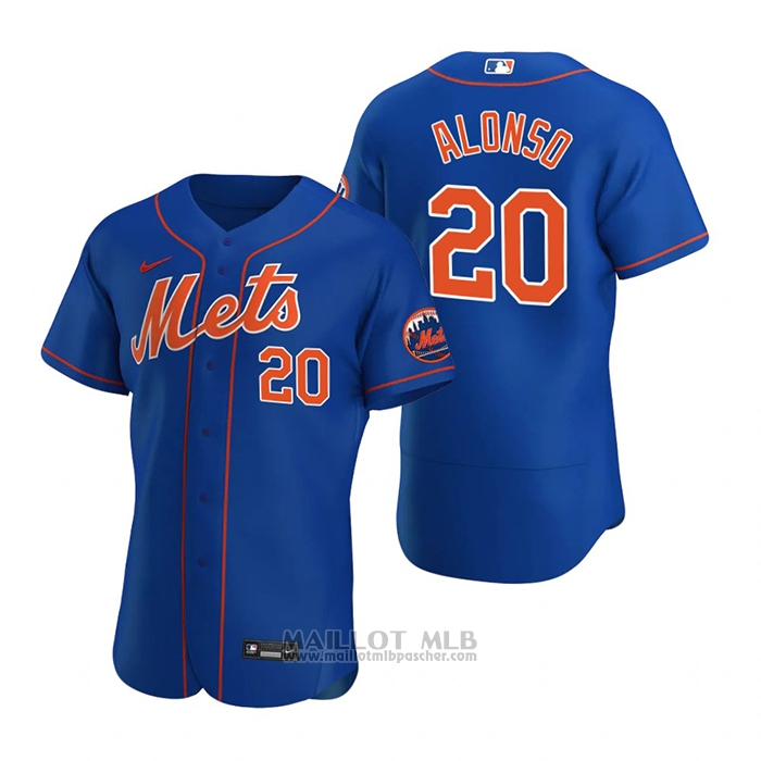 Maillot Baseball Homme New York Mets Pete Alonso Authentique 2020 Alterner Bleu