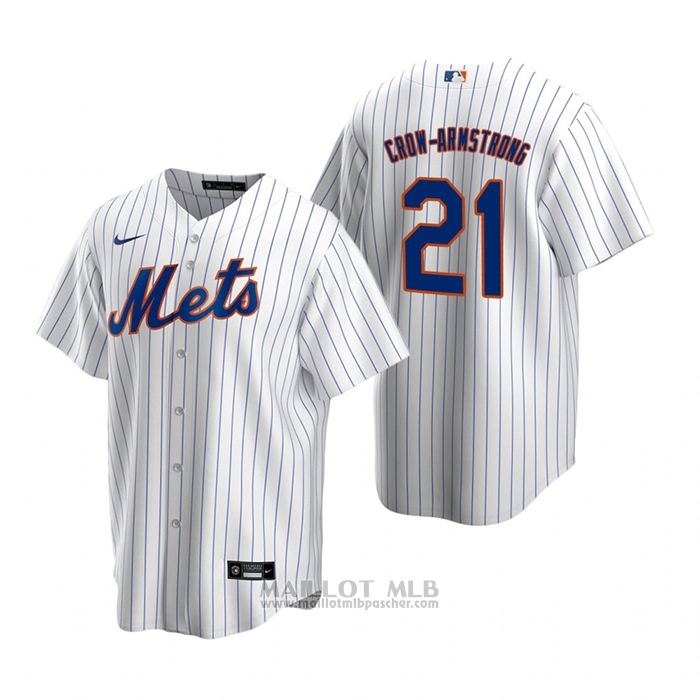 Maillot Baseball Homme New York Mets Pete Crow-Armstrong Replique 2020 Blanc