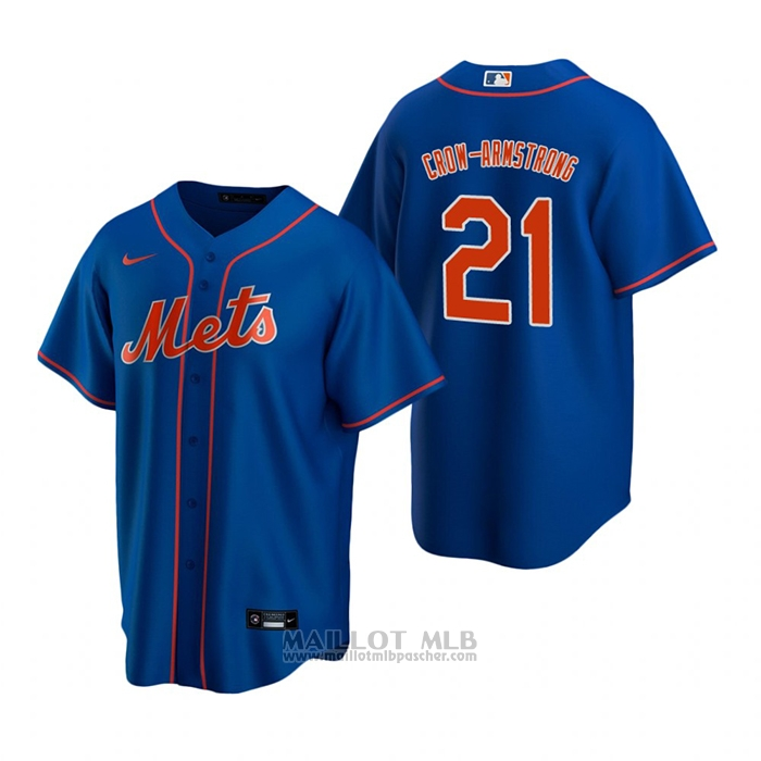 Maillot Baseball Homme New York Mets Pete Crow-Armstrong Replique 2020 Bleu