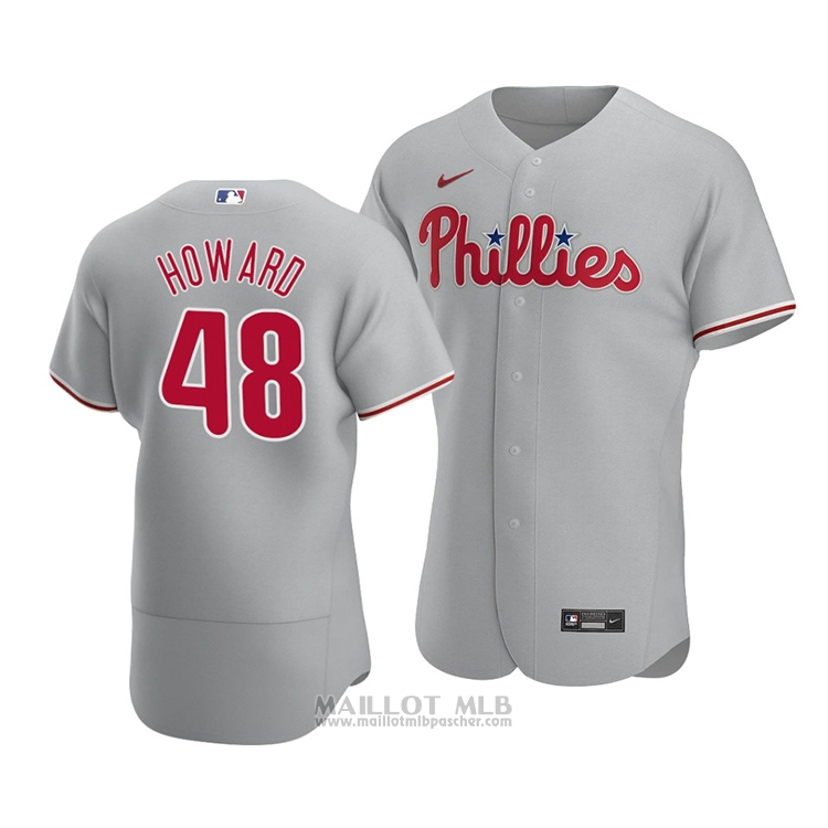 Maillot Baseball Homme Philadelphia Phillies Spencer Howard Authentique Road 2020 Gris