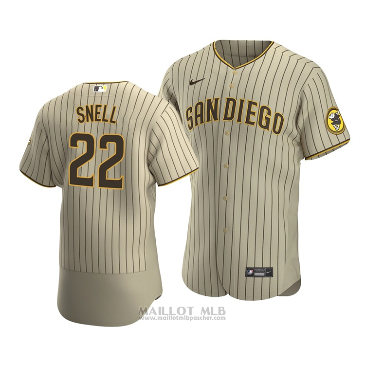 Maillot Baseball Homme San Diego Padres Blake Snell Authentique Alterner Marron