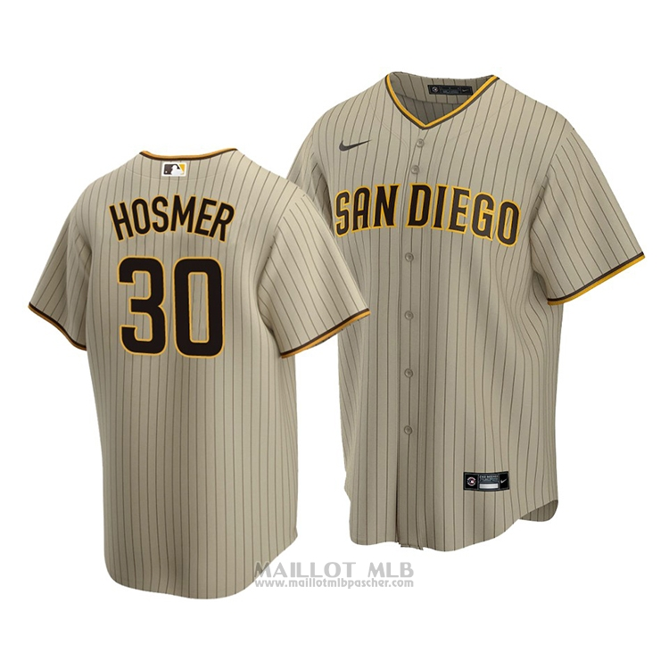 Maillot Baseball Homme San Diego Padres Eric Hosmer Replique Alterner 2020 Marron