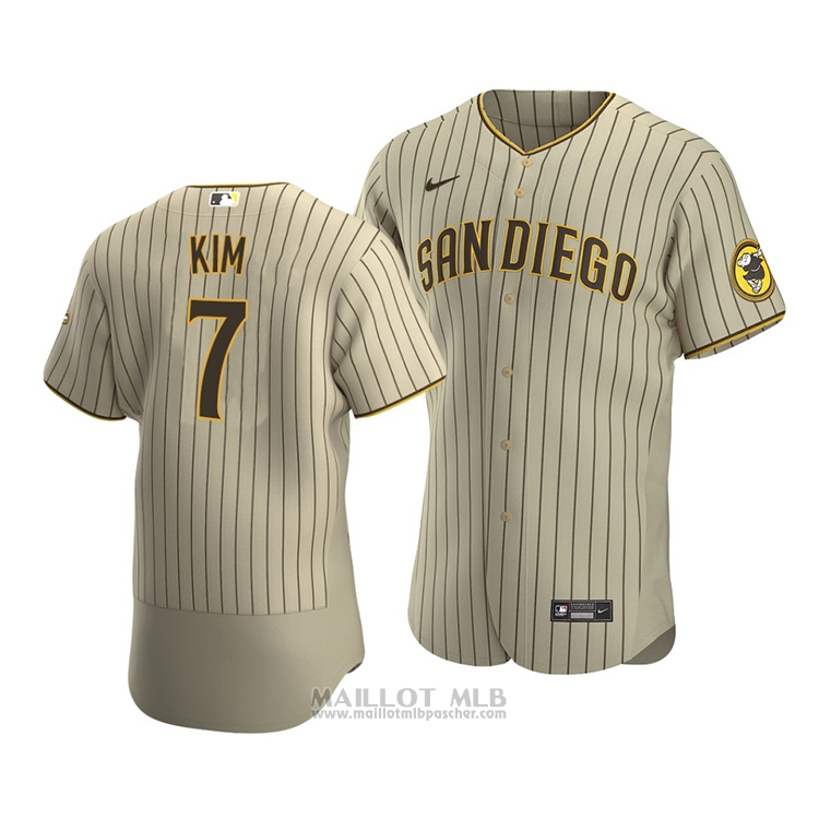 Maillot Baseball Homme San Diego Padres Ha Seong Kim Authentique Alterner Marron