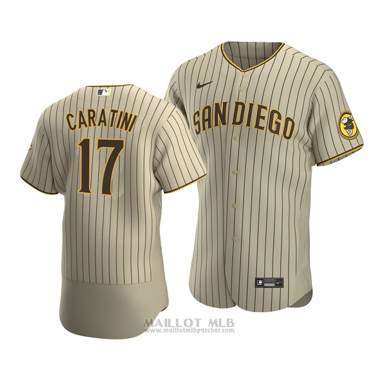 Maillot Baseball Homme San Diego Padres Victor Caratini Authentique Alterner Marron