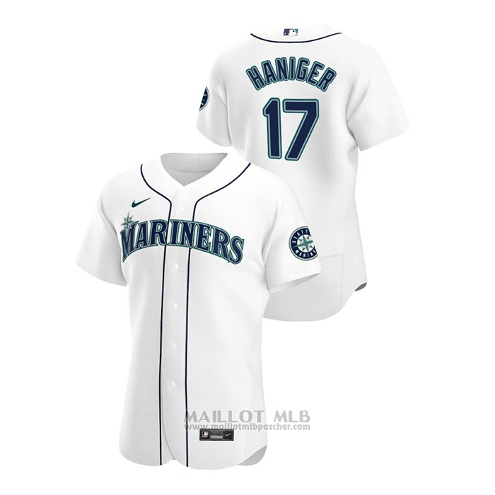 Maillot Baseball Homme Seattle Mariners Mitch Haniger Autentico 2020 Primera Blanc