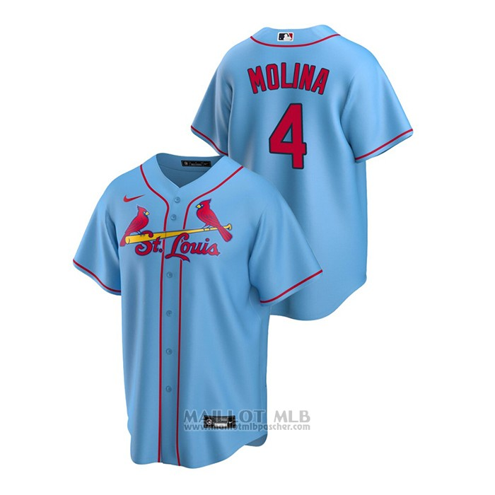 Maillot Baseball Homme St. Louis Cardinals Yadier Molina Replique Alterner Bleu