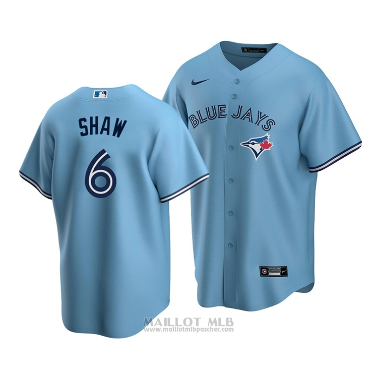 Maillot Baseball Homme Blue Tornto Blue Jays Travis Shaw Replique Alterner 2020 Bleu