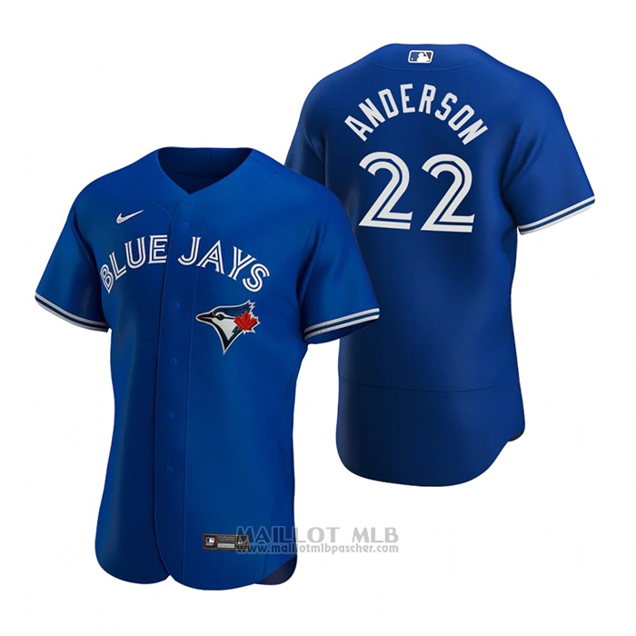 Maillot Baseball Homme Toronto Blue Jays Chase Anderson Authentique 2020 Alterner Bleu