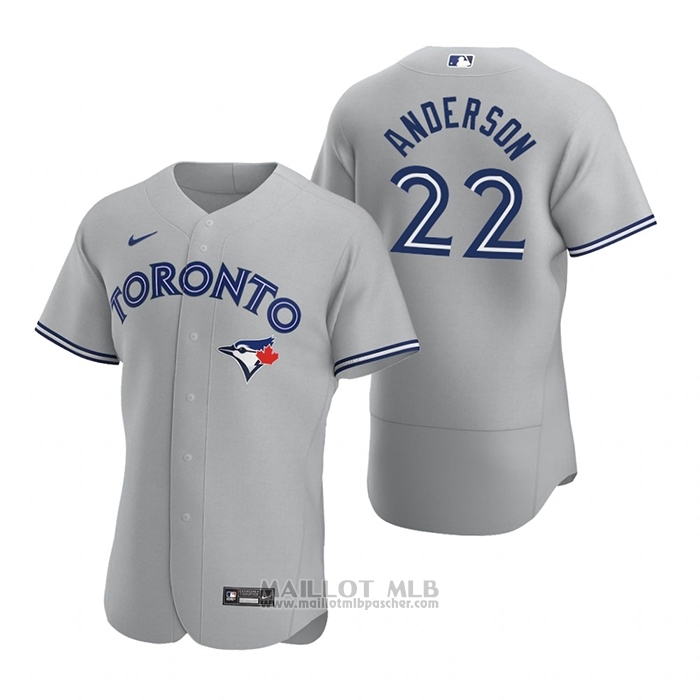 Maillot Baseball Homme Toronto Blue Jays Chase Anderson Authentique 2020 Road Gris
