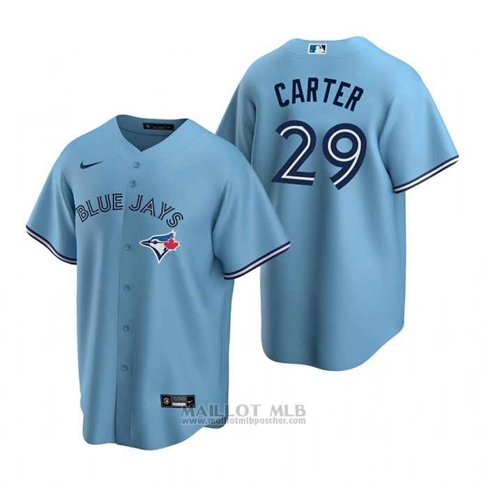 Maillot Baseball Homme Toronto Blue Jays Joe Carter Alterner Replique Bleu