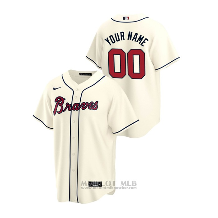 Maillot Baseball Homme Atlanta Braves Personnalise 2020 Replique Alterner Creme