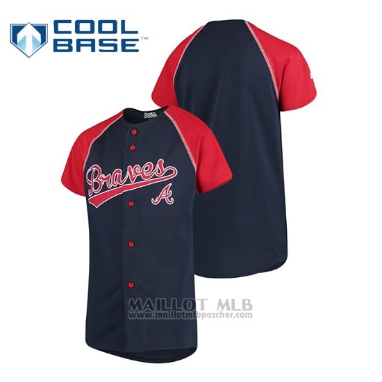 Maillot Baseball Enfant Atlanta Braves Personalizada Stitches Bleu Rouge