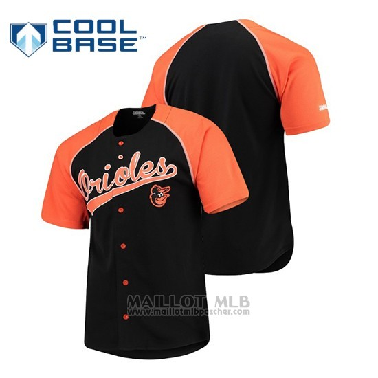Maillot Baseball Baltimore Orioles Personalizada Stitches Noir Orange