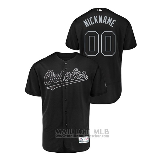 Maillot Baseball Homme Baltimore Orioles Personnalise 2019 Players Weekend Authentique Noir