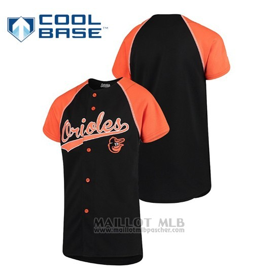 Maillot Baseball Enfant Baltimore Orioles Personalizada Stitches Noir Orange