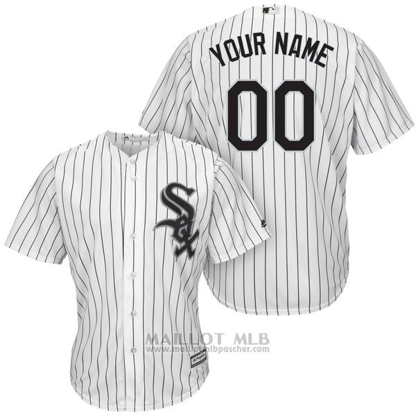 Maillot Baseball Enfant Chicago White Sox Personnalise Blanco