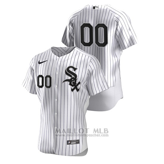 Maillot Baseball Homme Chicago White Sox Personnalise Authentique Nike Blanc