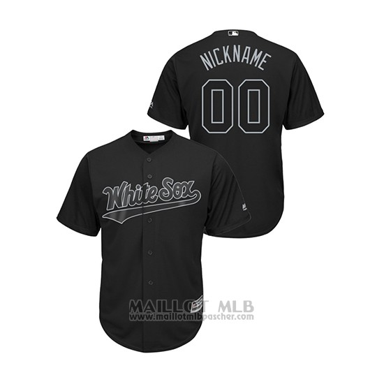 Maillot Baseball Homme Chicago White Sox Personnalise 2019 Players Weekend Nickname Replica Noir