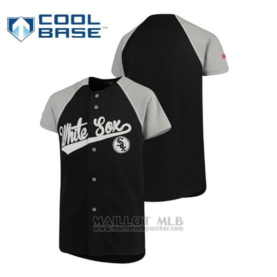 Maillot Baseball Enfant Chicago White Sox Personalizada Stitches Noir Gris