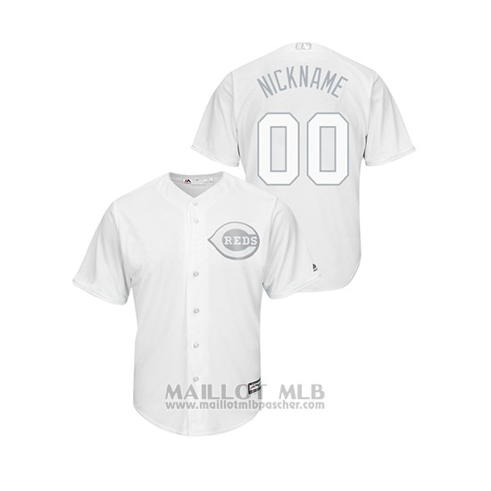 Maillot Baseball Homme Cincinnati Reds Personnalise 2019 Players Weekend Nickname Replica Blanc