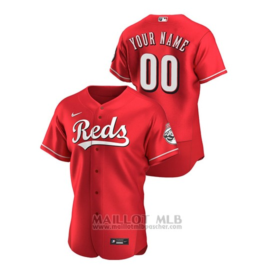 Maillot Baseball Homme Cincinnati Reds Personnalise Authentique Alterno Rouge