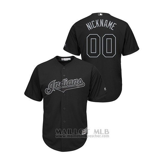 Maillot Baseball Homme Cleveland Indians Personnalise 2019 Players Weekend Nickname Replica Noir