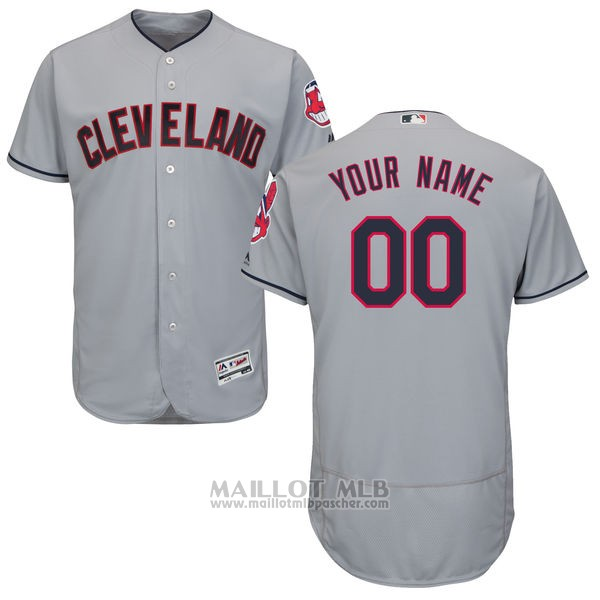 Maillot Cleveland Indians Personnalise Gris