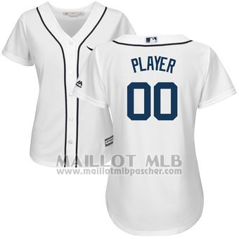 Maillot Baseball Femme Detroit Tigers Personnalise Blanco