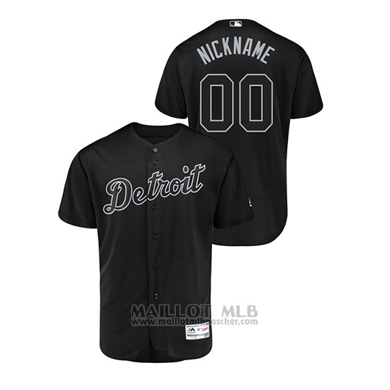 Maillot Baseball Homme Detroit Tigers Personnalise 2019 Players Weekend Authentique Noir
