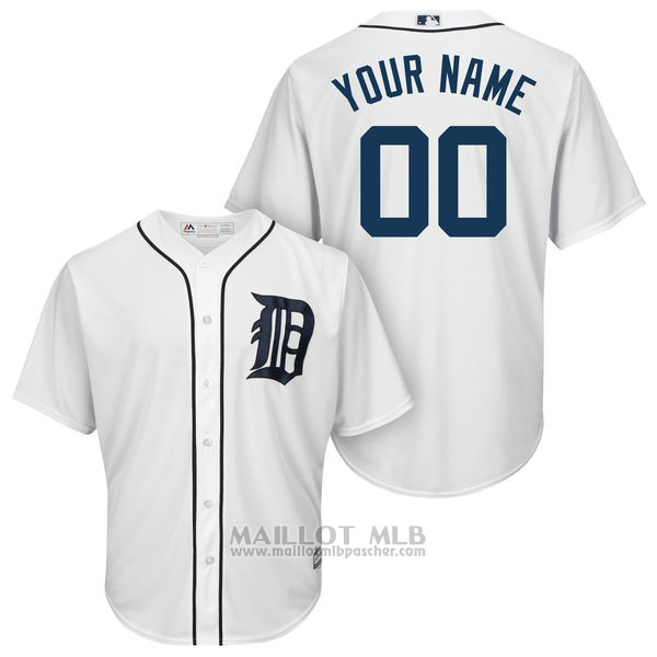 Maillot Detroit Tigers Personnalise Blanco