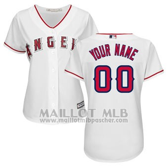Maillot Baseball Femme Los Angeles Angels Personnalise Blanco