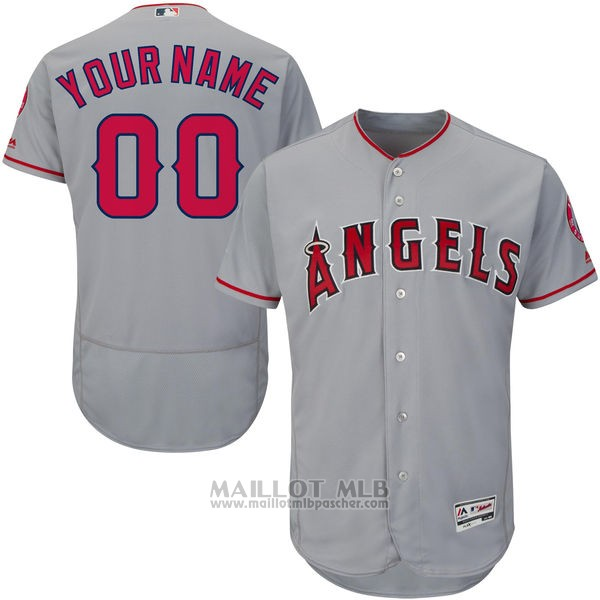 Maillot Baseball Enfant Los Angeles Angels Personnalise Gris