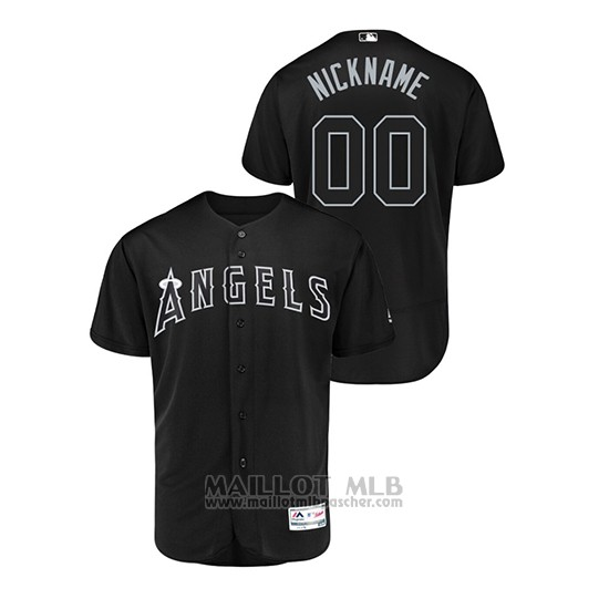 Maillot Baseball Homme Los Angeles Angels Personnalise 2019 Players Weekend Authentique Noir