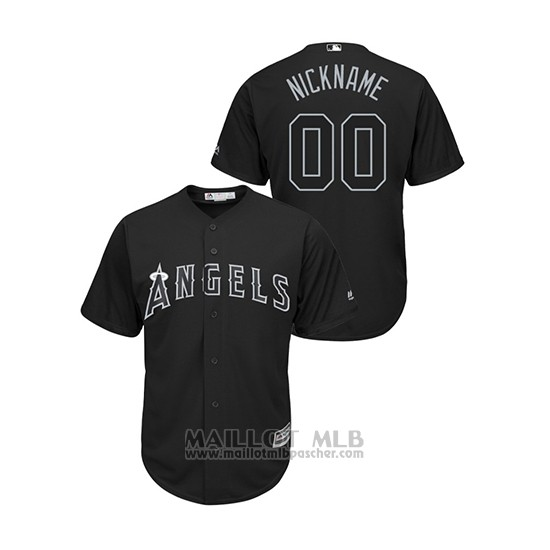 Maillot Baseball Homme Los Angeles Angels Personnalise 2019 Players Weekend Nickname Replica Noir