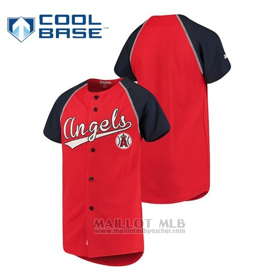 Maillot Baseball Enfant Los Angeles Angels Personalizada Stitches Rouge Bleu