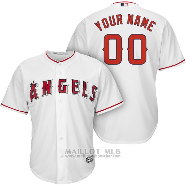 Maillot Los Angeles Angels Personnalise Blanco
