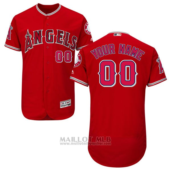 Maillot Los Angeles Angels Personnalise Rouge